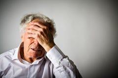 grief Ancião nos pensamentos fotos de stock royalty free
