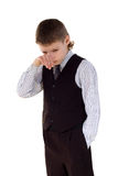 Grief for  a boy. Small children's problems Stock Photo