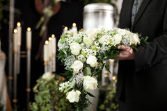 Grief - Funeral and cemetery Royalty Free Stock Image