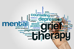 Grief therapy word cloud stock photography