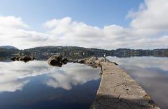 Grieg indiqué Sur le rivage du lac est le manoir localisé Troldhaugen de Nurdos norway Image libre de droits
