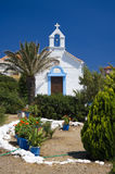 Griego blanco de la capilla Imagenes de archivo