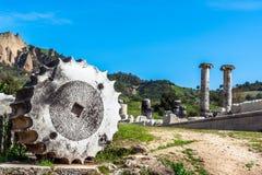 Griego el Templo de Artemisa cerca de Ephesus y de Sardis Foto de archivo