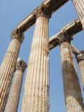 Griekenland, Athene, de Olympische Tempel van Zeus stock foto's