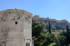 GRIEKENLAND, ATHENE - MAART 25, 2017: De Toren van Winden Royalty-vrije Stock Afbeeldingen