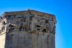 GRIEKENLAND, ATHENE - MAART 25, 2017: De Toren van Winden Stock Foto's