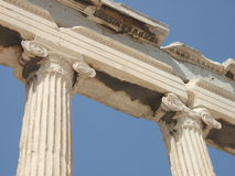 Griekenland, Athene, Parthenon in Akropolis Royalty-vrije Stock Afbeelding
