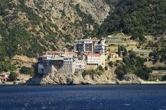 Griekenland, Athos Peninsula, Klooster royalty-vrije stock foto