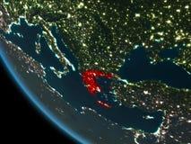 Griekenland bij nacht van baan Royalty-vrije Stock Foto