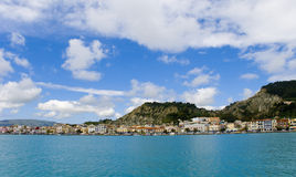 Griekenland De stad van Zakintos op het Eiland Zakynthos Royalty-vrije Stock Foto's