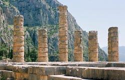 Griekenland, de tempel van Apollo. Stock Foto