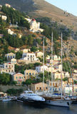 Griekenland. Egeïsche overzees. Eiland Symi (Simi). Stock Afbeelding