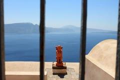 Griekenland, Eiland Santorini en het overzees Stock Afbeeldingen