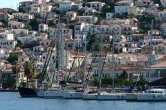 Griekenland, haven Hydra Royalty-vrije Stock Afbeelding