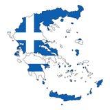 Griekenland Kaart van de vectorillustratie van Griekenland Royalty-vrije Stock Afbeelding