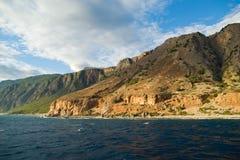 Griekenland, Kreta, Witte Bergen Stock Foto's