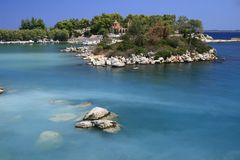 Griekenland, Methana Royalty-vrije Stock Afbeeldingen