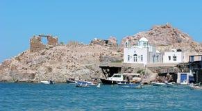 Griekenland, Milos-eiland, Firopotamos-dorp stock foto