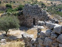 Griekenland, Mycenae, oude ruïnes niet vrije tijd royalty-vrije stock afbeelding