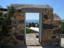 Griekenland Mykonos van een prachtige vakantiefoto Royalty-vrije Stock Afbeeldingen