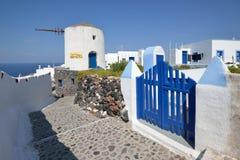 Griekenland, Santorini, Oia stock foto's