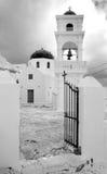 Griekenland. Santorini. Stad van Fira. Klassieke kerk royalty-vrije stock fotografie