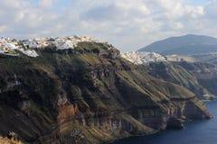 Griekenland. Santorni. Mening over steile caldera royalty-vrije stock foto's