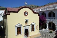 Griekenland, Symi-eiland, Panormitis-klooster royalty-vrije stock afbeelding