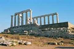 Griekenland, tempel Poseidon. Stock Foto's