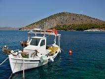 Griekenland, tolo-Mening van het eiland Romvi Royalty-vrije Stock Afbeeldingen