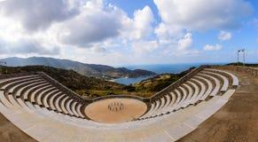Grieks amfitheater Royalty-vrije Stock Afbeeldingen