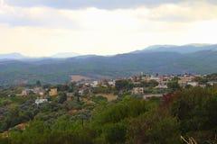 Grieks dorp in de ochtend Stock Foto