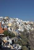 Grieks Dorp, Ioa, Santorini Royalty-vrije Stock Foto's