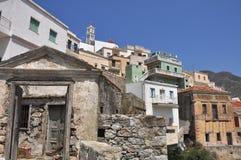 Grieks dorp Olympos Royalty-vrije Stock Afbeelding