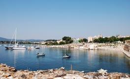 Grieks Eiland Korfu, stad Kerkyra, Griekenland royalty-vrije stock afbeeldingen
