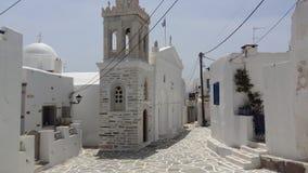 Grieks Eiland Paros, Marpissa-Dorp Stock Foto's