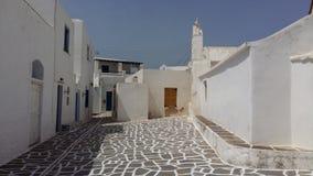 Grieks Eiland Paros, Marpissa-Dorp Stock Afbeeldingen