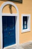 Grieks huis stock afbeeldingen