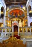 Grieks kerk ontzagwekkend altaar stock afbeelding