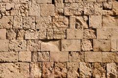 Grieks oud muurpatroon van Rhodos Stock Foto's