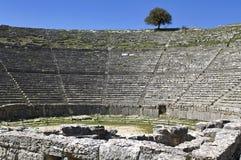 Grieks oud theater van Dodoni in Griekenland Royalty-vrije Stock Afbeeldingen