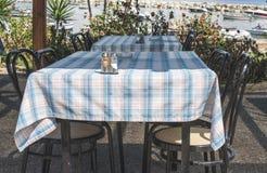 Grieks restaurant Royalty-vrije Stock Foto
