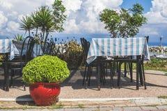 Grieks restaurant Royalty-vrije Stock Afbeelding