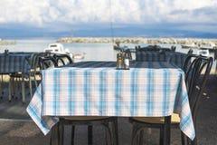 Grieks restaurant Stock Fotografie