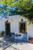 Grieks restaurant stock foto