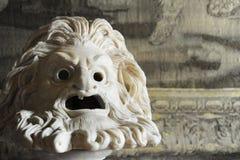 Grieks of roman het maskerbeeldhouwwerk van het stijltheater royalty-vrije stock foto