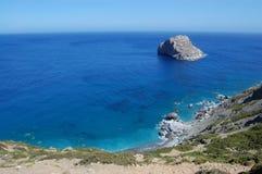 Grieks strand, amorgoseiland stock afbeelding