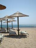 Grieks strand, mykonos Stock Foto's
