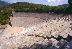 Grieks theater in Epidauros royalty-vrije stock afbeeldingen