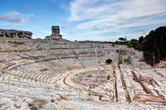 Grieks theater, Syracuse, Sicilië, Italië Stock Afbeeldingen